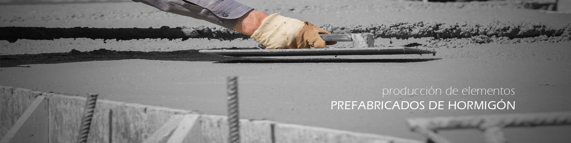 producción de elementos prefabricados de hormigón